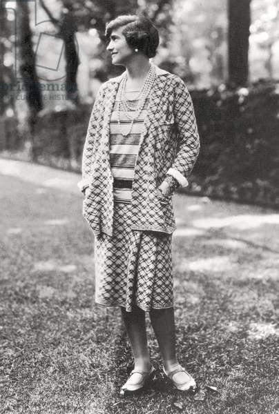 Portrait of Gabrielle 'Coco' Chanel, 1929 (b/w photo)