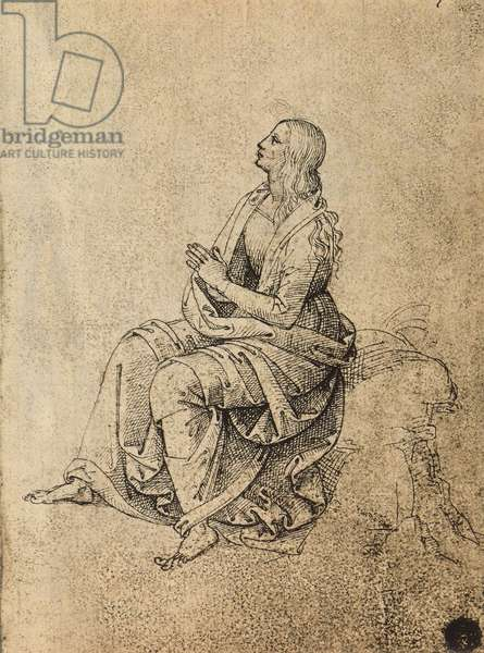 Female figure praying; drawing by Raphael. Gallerie dell'Accademia, Venice