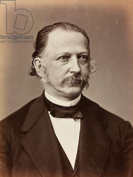 Portrait of Heinrich Theodor Fontane, c.1900-10 (b/w photo)
