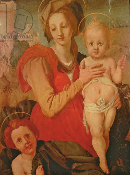 Madonna and Child with the Infant St. John the Baptist (panel)