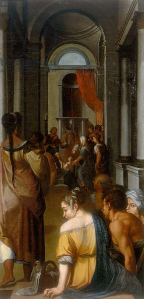 Presentation of the Virgin at the Temple, work by Ercole Dell'Abate, conserved at the Gallera Estense in Modena