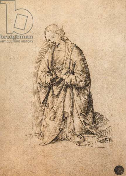 Adoring Virgin; drawing by Raphael, Gallerie dell'Accademia, Venice