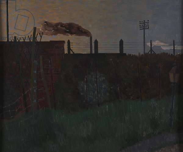 Dunmow Station: Dusk, 1943 (oil on canvas)
