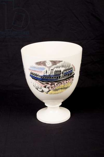 Piccadilly Circus on Boat Race Night Goblet (transfer print & ceramic)