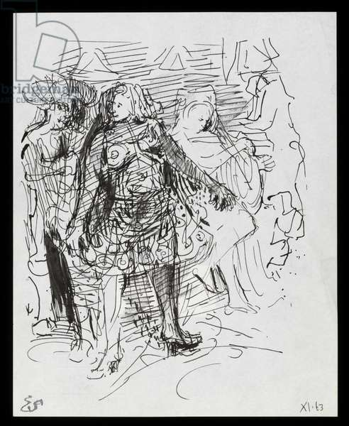 Theatre Costume Dress (ink on paper)