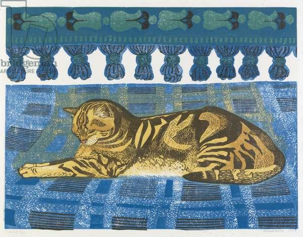 Tom Cat, 1973 (linocut)