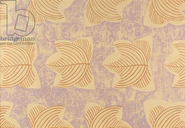 Skeletal Leaf (Lilac), 1958 (linocut)