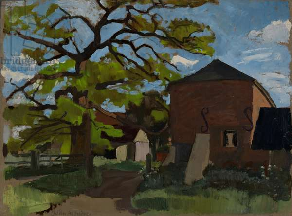 Blue Gate Hall, 1955 (oil on board)