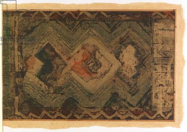 Javanese Doors (etching & collage)