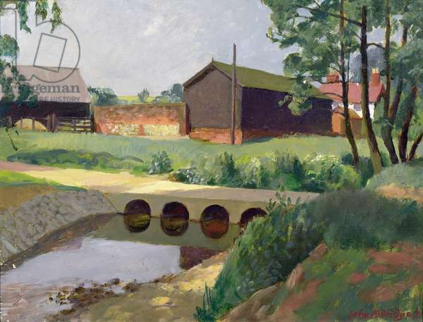 The New Culvert, Copford Hall, 1973 (oil on canvas)