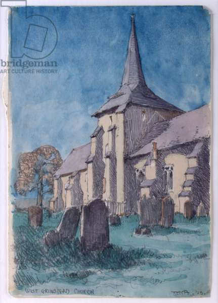 West Grinstead Church, 1925 (w/c on paper)