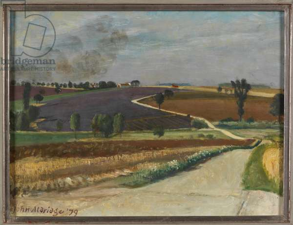 The Hyde from Further Moor Hall, 1979 (oil on canvas)