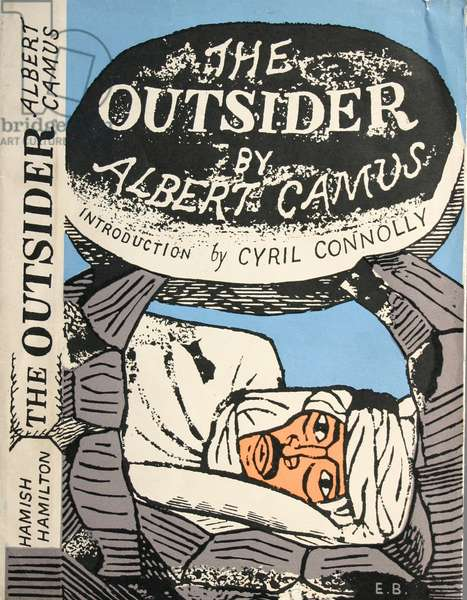 Front cover of 'The Outsider' by Albert Camus, 1946 (colour litho)