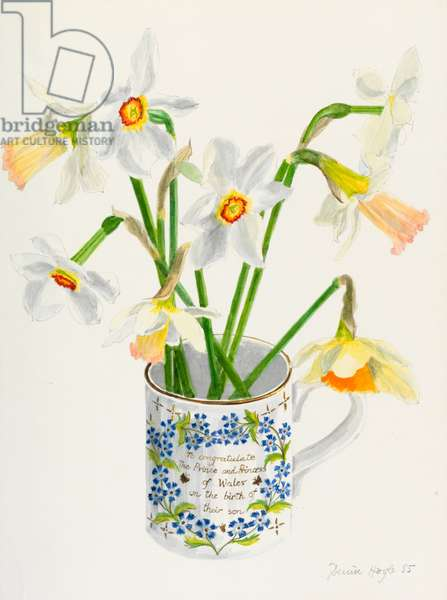 Jonquils and Daffodils, 1985 (w/c on paper)