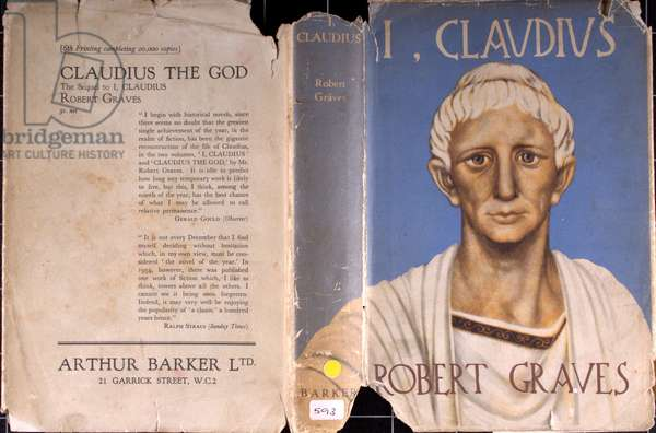 Dust jacket of 'I, Claudius' by Robert Graves (colour litho)