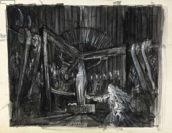 Design for the Flying Dutchman, 1975 (mixed media)