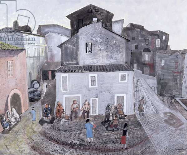 The Belvedere, Genzano, Sicily, 1952 (w/c on paper)