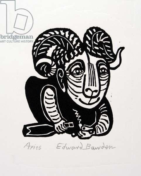 Aries (linocut)