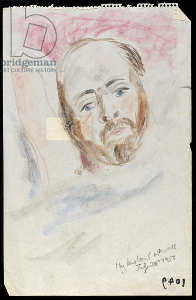 My Husband Not Well, July 20 1956 (pastel on paper)