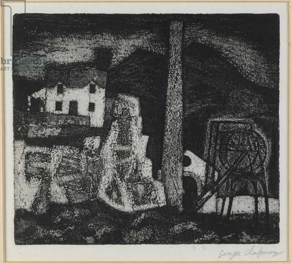 House on Rocks, 1951 (etching & aquatint)