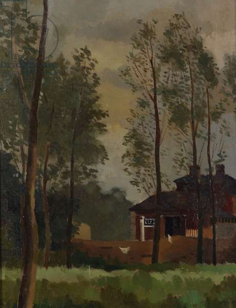 The Station Willows, Clare, Suffolk, c.1941 (oil on canvas)