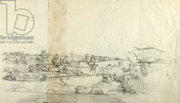 Hayfield Squared Sketch, 1960 (pencil on  paper)