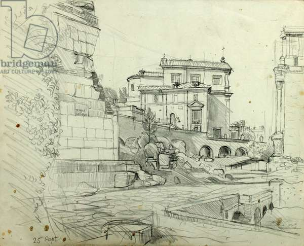 Temple of Saturn (pencil on paper)