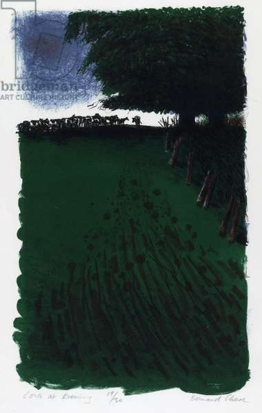 Cows at Evening, 1983 (colour litho)