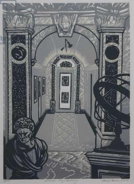 Fry Gallery Interior (linocut)