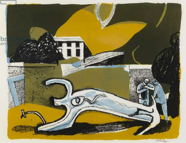 The Walled Garden, 1951 (colour litho)