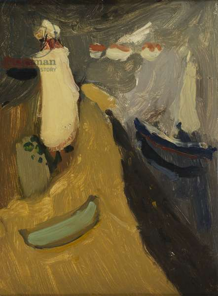 Lighthouse Going for a Walk, 1959 (oil on canvas)