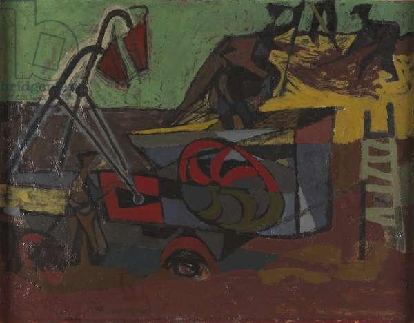 The Threshing Machine, 1951-52 (oil on canvas)