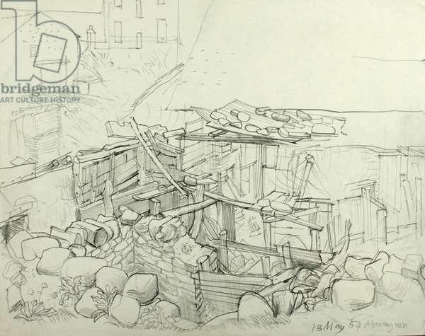 Aberayron, 13th May 1954 (pencil on paper)