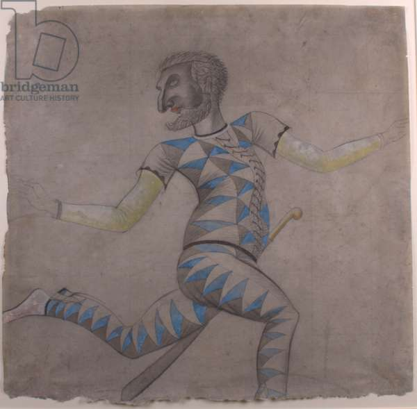 Harlequin, 1928 (pencil & wash on paper)