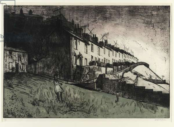 Terraced Houses (etching)