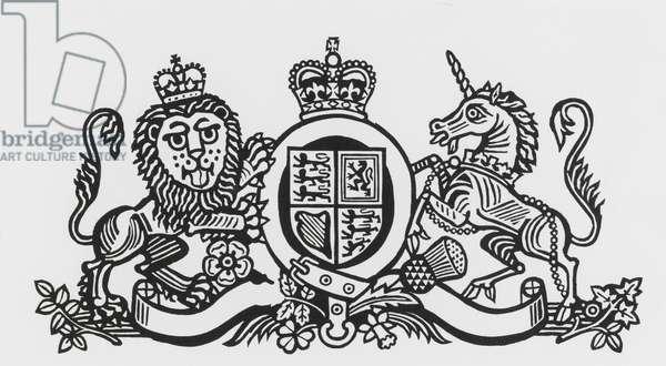 Coat of Arms, 1991 (linocut)