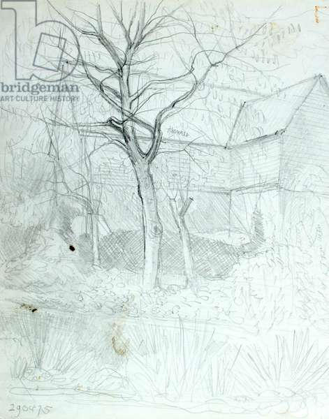 Place Barn, 1975 (pencil on paper)