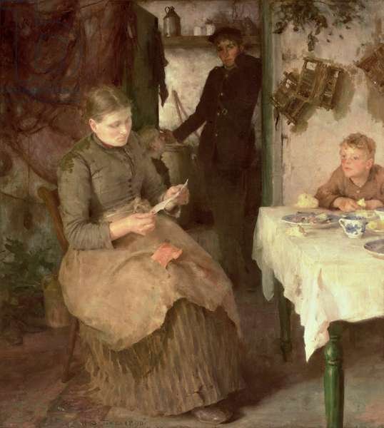 The Message, 1890 (oil on canvas)