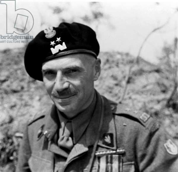 The Battle of Cassino: General Wladyslaw Anders, April 1944 (b/w photo)