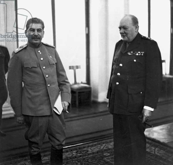 Stalin and Churchill at the Yalta Conference, February 1945