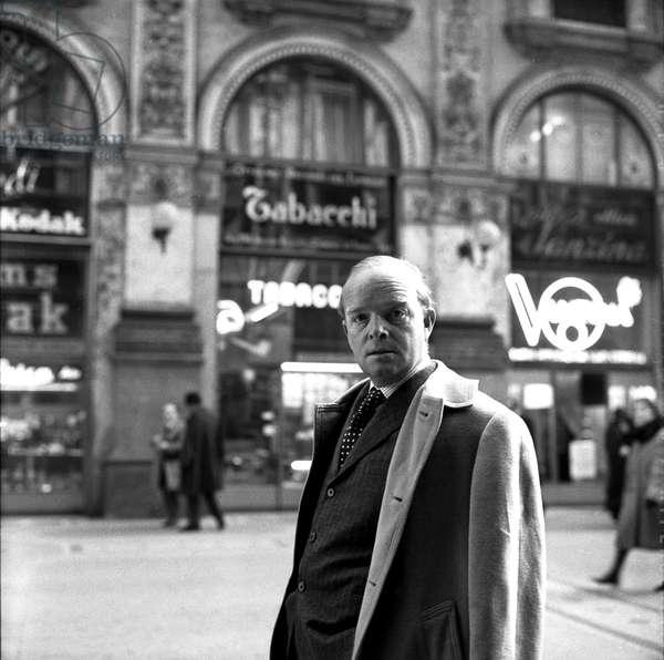 Truman Capote in Milan, 24th February 1966 (b/w photo)