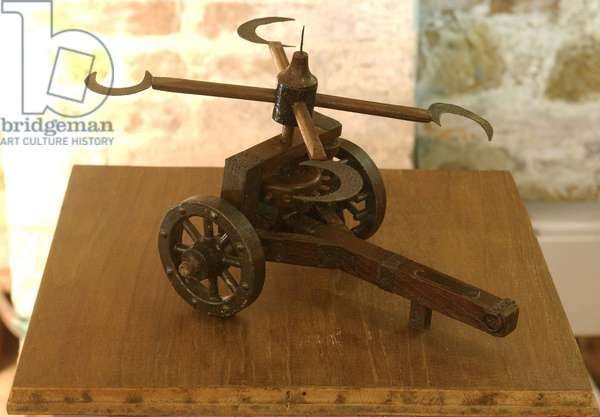 Model reconstruction of da Vinci's design for a war machine (wood)