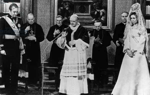 Paul VI with the Sovereign of Spain