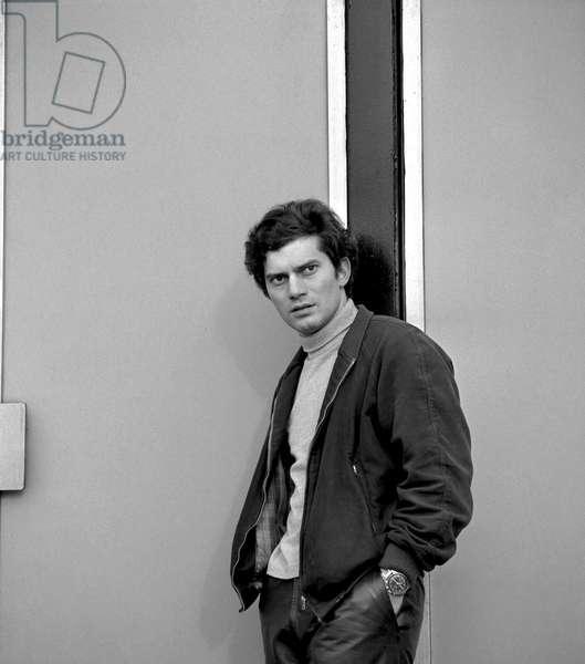 Luigi Tenco, 1966 (b/w photo)