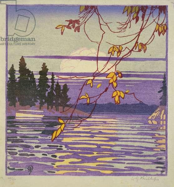 Golden Hour, c.1920 (woodblock print)