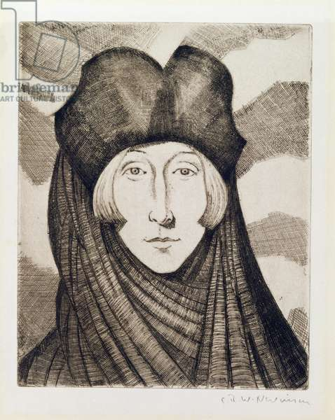 Edith Sitwell (1887-1964) 1927 (etching and drypoint)