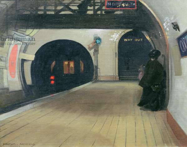 Oxford Circus, 1905 (oil on board)