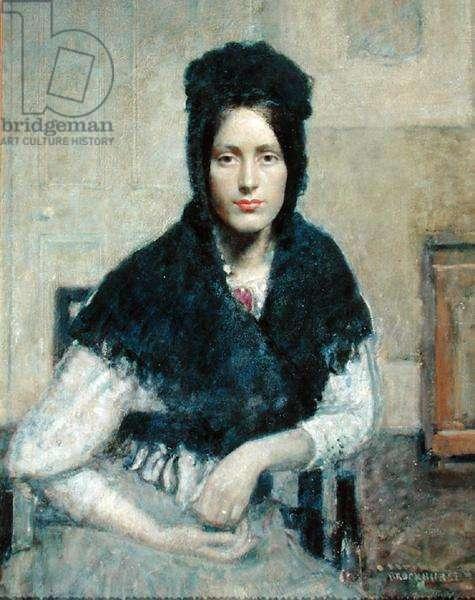 La Basquaise...Portrait of Anais Brockhurst (oil on canvas)