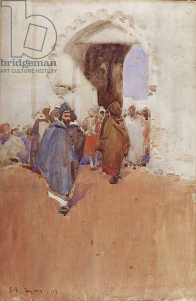 Arab Figures, Tangier, 1893 (w/c on paper)