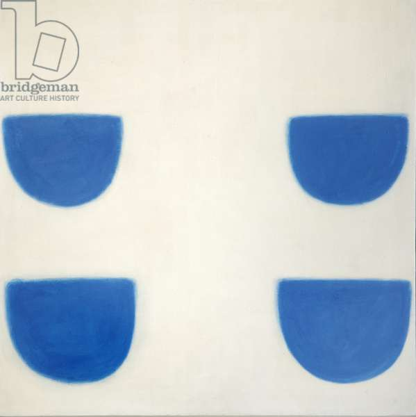 Blue and White, 1971 (oil on canvas)